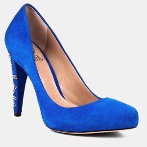 Vince Camuto Blue Suede Heels